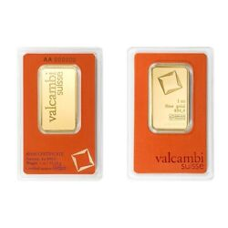 Lot Of 2 - 1 Oz Gold Bar Valcambi Suisse .9999 Fine In Assay