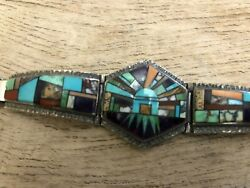 Native American Bracelet Turquoise Sterling Silver Alvin Yellowhorse