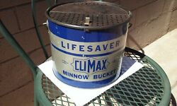 VTG CLIMAX LIFESAVER MINNOW BAIT BUCKET FISHING TACKLE ANGLER CABIN LODGE CAVE $150.00