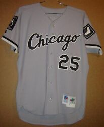 1995 Chicago White Sox Mike Pazik 25 Gray Button-down Mlb Size 46 Jersey