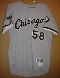 1997 Chicago White Sox Mark Salas 58 Gray Button-down Mlb Size 48 Jersey