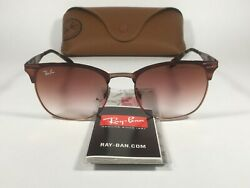 Authentic Ray Ban Clubmaster Sunglasses Copper Havana Red Gradient Lens RB3538 $129.99