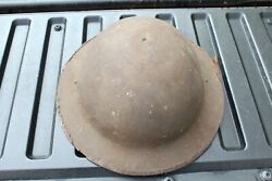 Vintage Ww1 Doughboy Display Helmet No Liner And Partial Chin Strap 4c1