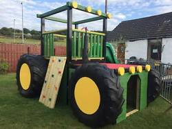 Tractor - Jungle Gym Reinforced Rock Wall Steps Slide Childrenand039s Outdoor