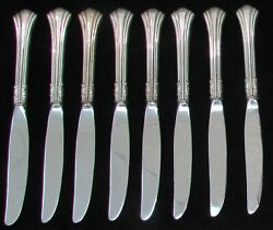 Reed And Barton 18th Century 8 Sterling Silver 9 Lunch Knives