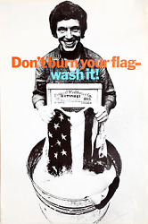 George Lois Donand039t Burn Your Flag - Wash It Poster