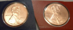 2013 P And D Lincoln Shield Cent / Penny Set Mint Cello Free Shipping