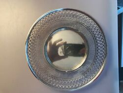Antique Sterling Silver Watson Co Reticulated Sandwich Plate Tray 9 Stunning