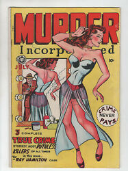 Murder Incorporated 4 Fox Feature 1948 Fn Pre-code Crime Never Pays Lingerie