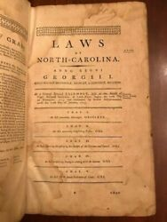 Rare 1791 Laws Of The State Of North Carolina James Iredell 1st Edition Nc