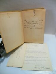 Signed Wwi General Mason Patrick Army 1928 Book And Letter Us In The Air Rare