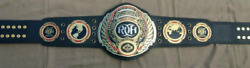Ring Of Honor Wrestling Championship Belt Dual Replica Leather Plated Belt