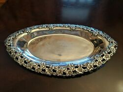 Oblong Silver Plated Tray, Eg Webster Pattern 114 13 By 7 3/8