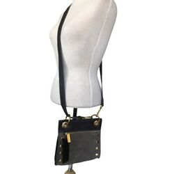 HAMMITT LOS ANGELES BROWN LEATHER Small amp;Leather Brown CROSSBODY GOLD amp;STUDS NWT $150.00