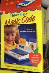 1987 Fisher Price Magic Code Quiz Flash Card Game Working With Box 6610 New