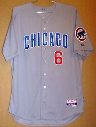 2012 Chicago Cubs Bryan Lahair Gray Button-down Size 50 Game Worn Size 50 Jersey