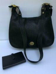 Vintage Coach Legacy Crescent Hobo 9718 and Vintage Coach Wallet Black $79.99