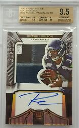 2012 Crown Royale Russell Wilson Patch Auto Bgs 9.5 7/99 🔥🔥🔥 Seahawks Rookie