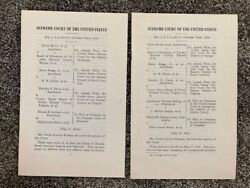V. Rare Brown V Board Of Education Original Issue Supreme Court Opinions Pt 1and2