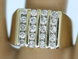 Vintage Antique Jewelry Gold Band Ring Natural Diamonds Art Jewellery Size T1/2