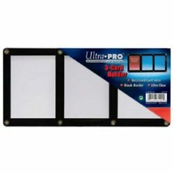 Ultra Pro 3 Card Black Border Screwdown Card Holder Recessed Triple Card Screw