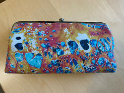 NWT LIMITED EDITION Women#x27;s Hobo Summertime Abstract Lauren Clutch Wallet NEW $138.00