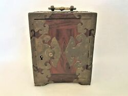 Antique Chinese Shanghai Wooden Gorgeous Ornate Bras Box Signed Woo Sung Hop Kee
