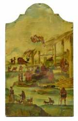 Antique Painting Religious Italian Oil And Print Collage 18th C. 1700s Pastel