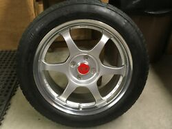 """Original Ssr Comp Type C 4x100 6"""" Wheels With Continental Extreme Contact Tires"""