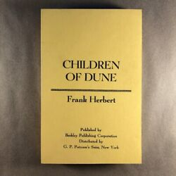 Children Of Dune By Frank Herbert First Edition Uncorrected Advance Proofs