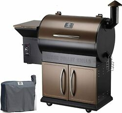 Z Grills Zpg-700d 2021 Upgrade Wood Pellet Grill And Smoker 8 In 1 Bbq Grill Cover