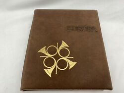 Vintage 1978 Europa Stamp Album With Info Cards And Envelopes.