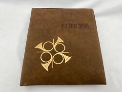 Vintage 1979 Europa Stamp Album With Info Cards And Envelopes