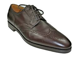 John Lobb Darby Lll Brown Leather Shoes 10/11 Last 7000 Made In England