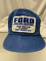 Trucker Hat Baseball Cap Vintage Snapback Ford Tractor K Products Brand Patch
