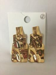 Forever 21 Nwt Gold Stacking Earrings Costume New