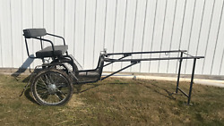 E-z Easy Entry Black Steel Metal Small Pony Miniature Cart Spring Suspension