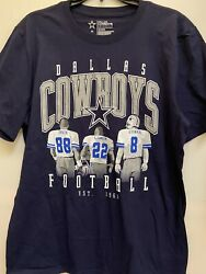 Dallas Cowboys Nfl Roan Navy Menand039s One Sided Shirt Size 3xl Free Shipping