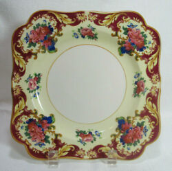 Crown Ducal Crd38 Six 6 Luncheon Plates Pink Red Blue Floral 20's Gc