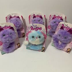 Lot Of 6 New Pomsies Plush Wearable Interactive Toys Talking Speckles Luna Gift