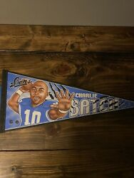 Brand New Vintage Wincraft Charlie Batch Detroit Lions Made In The Usa Pennant
