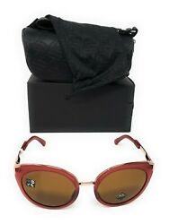 Oakley Women#x27;s Top Knot Sunglasses Berry with Prizm Bronze OO9434 0856 NEW $99.99