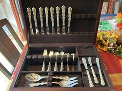 International Angelique Sterling Silver Eight 5-piece Place Settings