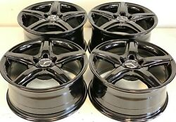 18 Inch Set Of 4 Mercedes Cls550 Cls400 Oem Staggered Wheels Rims Factory Stggd