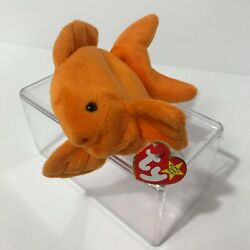 Ty Original Beanie Baby Goldie 4023 Pvc Pellets Tag Errors No Stamp Or Star Rare