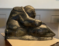 Inuit Carving 8 X 12 X 6 1/2 Inches Aprox 30 Pounds