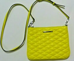 Rebecca Minkoff Small Quilted Leather Crossbody Clutch Bag Mint $38.99