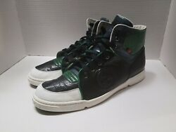 Gucci Men#x27;s size 13 Snakeskin and leather Hi top sneaker 162680 $221.00