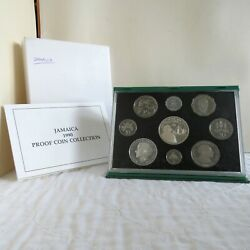 Jamaica 1990 9 Coin Proof Set With Silver - Complete - Mintage 500