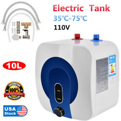 35℃-75℃ Home 10l Electric Tankless Hot Water Heater 110v Kitchen Bathroom New